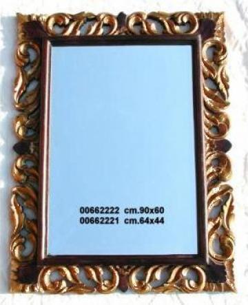 Oglinda cu rama lemn de la Cheap & Chic