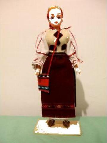 Papusa artizanat fata - Costum popular Brasov de la If Popescu M. Ana