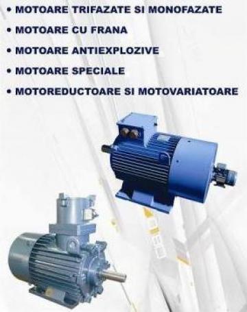Motoare electrice trifazate si monofazate, cu frana de la Idm Dinamic Srl