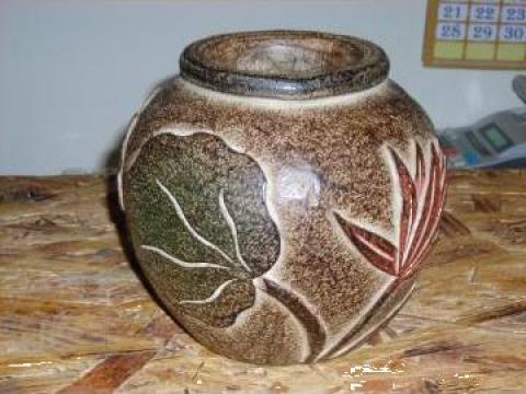 Vaza din lemn de la Diamas Prod Srl
