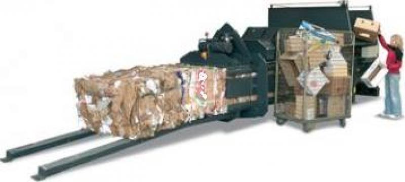 Presa orizontala pentru carton, folie HC50 de la Sc Schuster Recycling Technology Srl