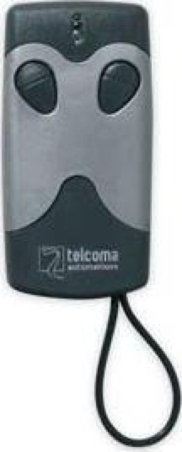 Mini telecomanda doua canale Telcoma cu autoinvatare 433 MHz