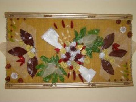 Aranjament din flori uscate S 150, 60 x 105 cm