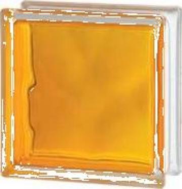Caramida de sticla colorata prin injectare galben de la Geo & Vlad Com Srl