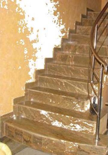 Trepte Interioare Din Granit Pitesti Marmoserv