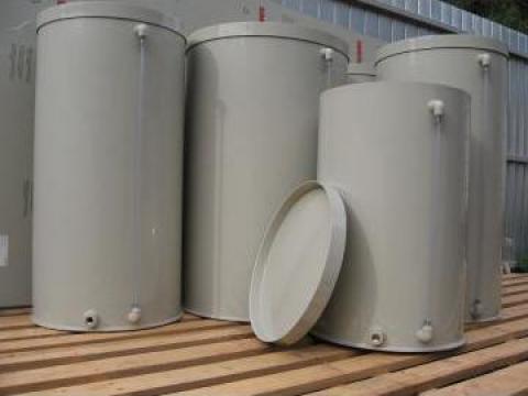 Rezervoare apa supraterane cilindrice verticale de la Plast Galvan Impex Srl