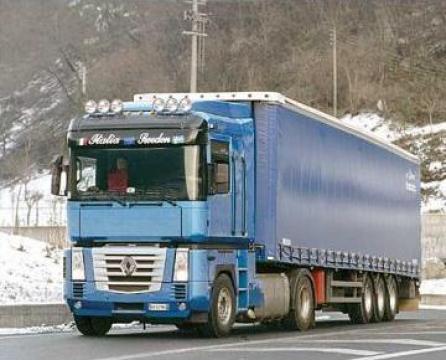 Transport marfa camioane cu prelata