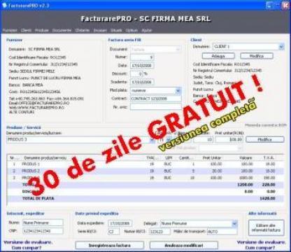 Program facturare FacturarePRO de la QS Consult