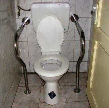 Cadru suport inox toalete pentru persoane cu dizabilitati