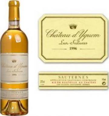 Vin Sauternes Chateau d' Yquem blanc 1996 de la Aim Network Srl