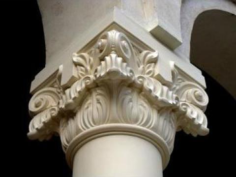 Coloane piatra - fronton stil brancovenesc de la Grama Style