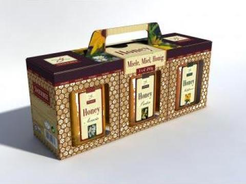 Cutie ambalaj borcane miere de la Romsver