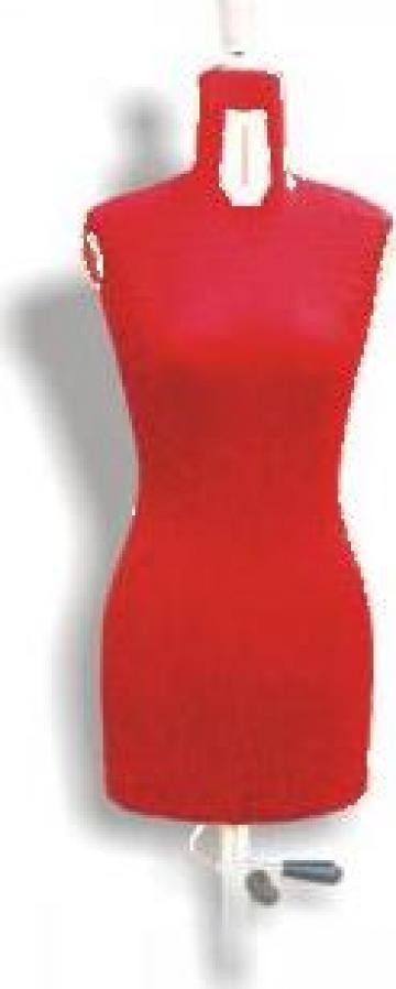 Manechin plastic extensibil dama, marimi reglabile 42-54