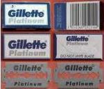 Lame aparate ras Gillete Platinum (albastre) de la Rav Distribution Srl