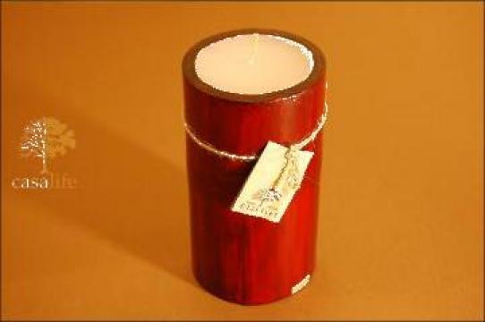 Lumanare parfumata in scoarta de bambus S de la Casalife