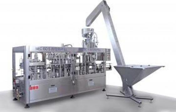 Masina monobloc de dozare, inchidere produse carbonatate
