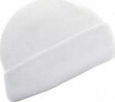 Caciula macelar, din lana culoare alb / crem de la Tehno Food Com Serv Srl