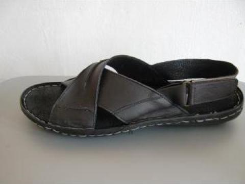 Sandale barbati piele 8600 negru