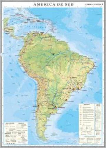 Harta Fizica America De Sud Otopeni Eurodidactica Srl Id 796648