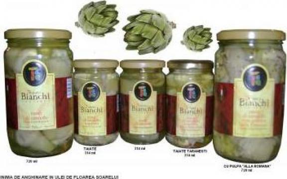 Inimi de anghinare in ulei, mixt de ciuperci in ulei 314 ml