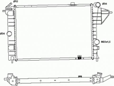 Radiator racire Opel Vectra A 1.8-2.0-1.7D de la Alltech Total Srl