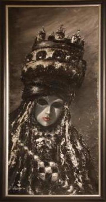 Picturi in ulei Masti venetiene - Regele si Regina de la Elemonart