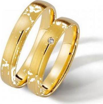 Verighete din aur 14K cu diamant de la Goldnet Distribution