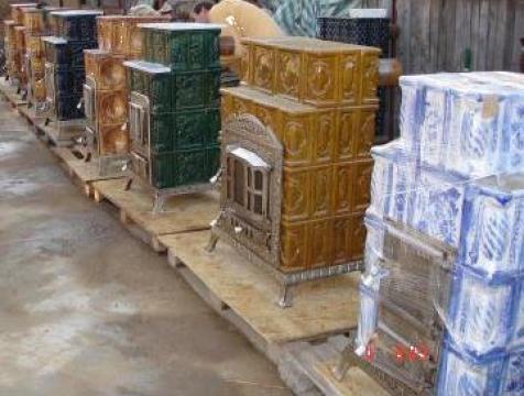 Sobe de teracota premontate pe suport de fonta de la Marmota Product Srl