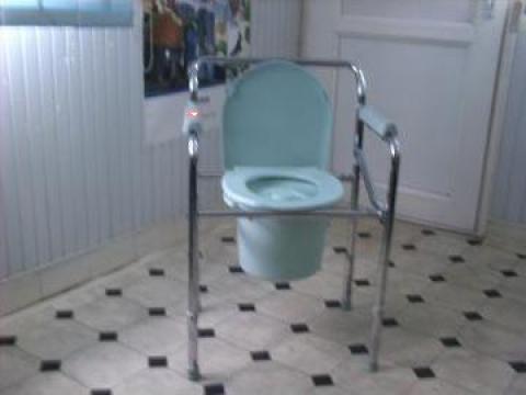 Cadru cu scaun de toaleta, reglabil pe inaltime, pliabil de la Ortomedical Plus Srl.