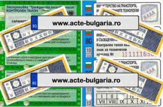 Intermedieri acte auto de Bulgaria