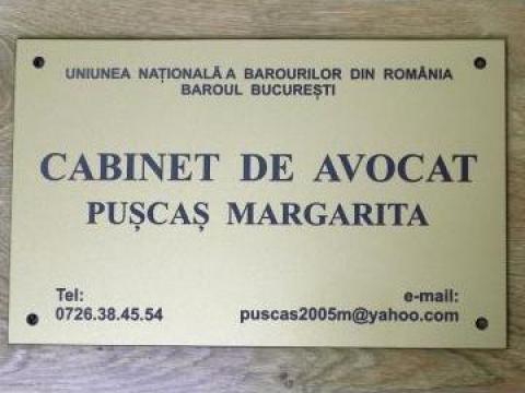Placa cabinet avocat