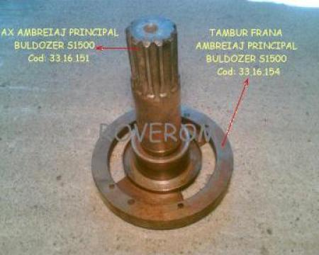 Ax ambreiaj + tambur frana ambreiaj principal buldozer S1500 de la Roverom Srl