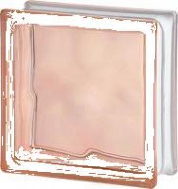 Caramida de sticla colorata in masa Roz de la Geo & Vlad Com Srl