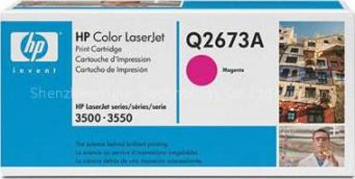 Cartus Imprimanta Laser Original HP Q2673A de la Green Toner