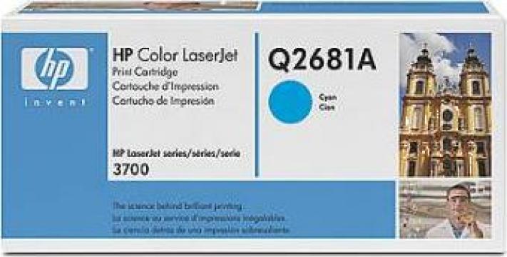 Cartus Imprimanta Laser Original HP Q2681A de la Green Toner