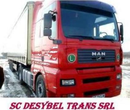 Transport marfa cu TIR-uri de la Sc Desybel Trans Srl