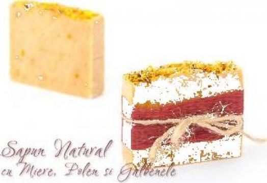 Sapun natural cu miere, polen, galbenele si Ylang-Ylang de la Sapun Natural