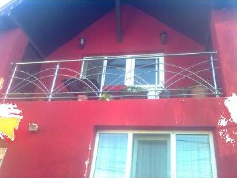Balustrada balcon inox de la Sc Ambient Inox Srl