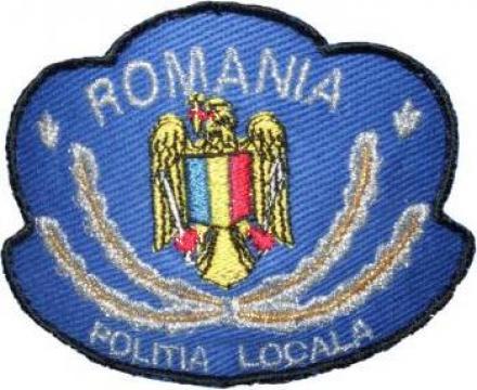 Emblema coifura Politia Locala de la Akilex Conf S.r.l.
