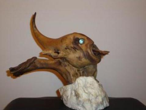 Sculptura in lemn - Peste de la PFA Asandi Simion