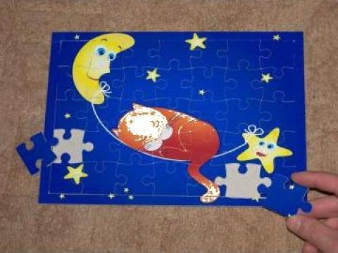 Puzzle pentru copii, marime A4, 35 piese
