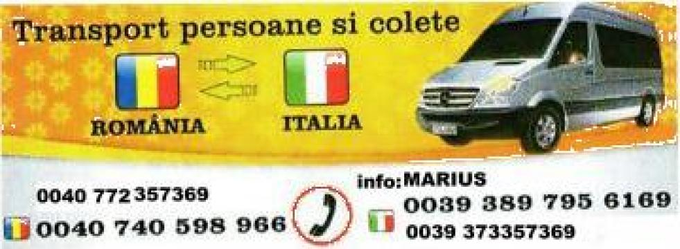 Transport persoane si colete Romania-Italia de la Sandulache Marius Pfa.