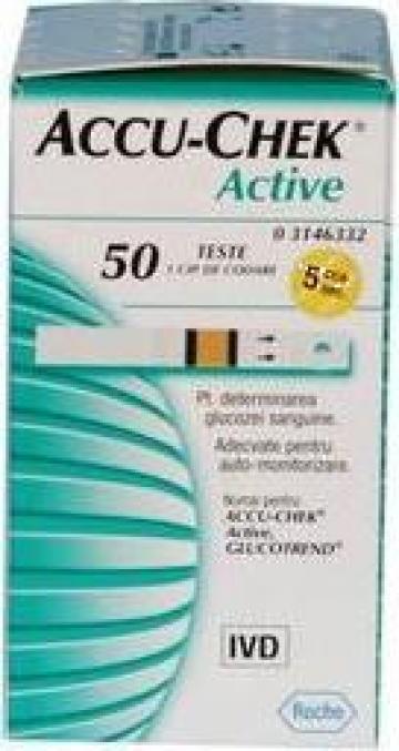Teste glicemie Accu Chek Active de la Natural Es Medical Srl