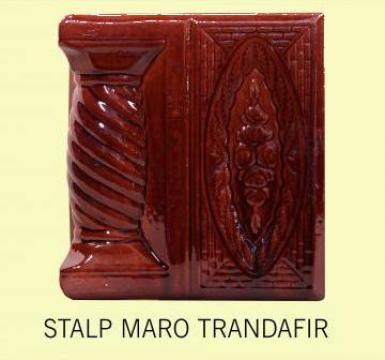 Stalp + placa soba teracota Maro Trandafir de la Fancris Srl