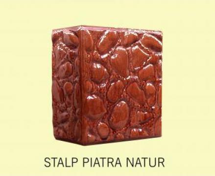 Cahle teracota Stalp + placa Piatra Natur de la Fancris Srl
