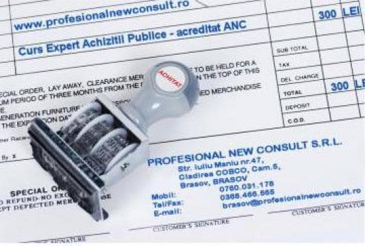 Curs calificare Expert Achizitii Publice acreditat ANC de la Profesional New Consult Srl Bv