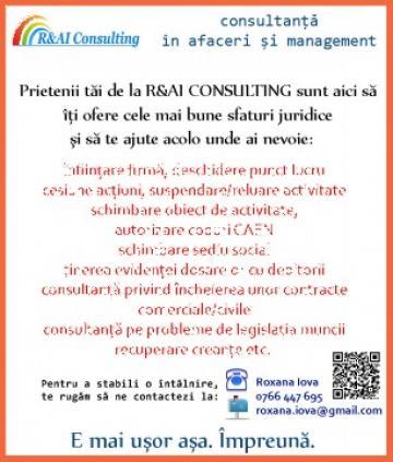 Infiintare PFA Oradea si Cluj de la R&AI Consulting
