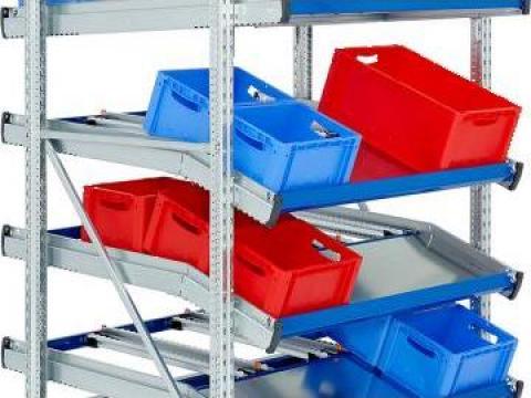 Rafturi gravitationale pentru cutii/colete de la Elmas