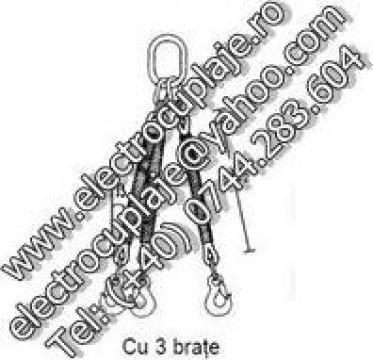 Dispozitiv de ridicare din fibra de poliester cu 3 brate