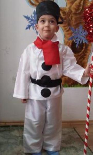 Costum copii Om de zapada de la Corsa Design Company Srl